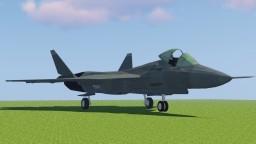 [1.7.10] MCHeli Sukhoi SU-57 Stealth Multirole Jet Fighter Minecraft Mod