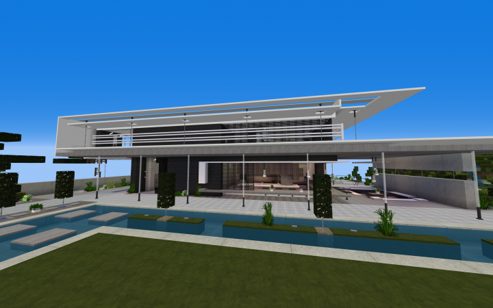 Realistic Seaside Modern House V2 Minecraft Map