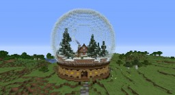 House in a Snow Globe Minecraft Map & Project