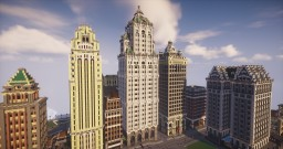 Belford Tower, 1910s Gothic Revival Skyscraper [ BRANDTFORD CITY ] Minecraft Map & Project