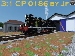 The Only Running Portuguese Steam Engine, CP 0186, by Jf Minecraft Map & Project