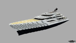 Fortune fictional 1.5:1 Scale yacht (no interior) Minecraft Map & Project