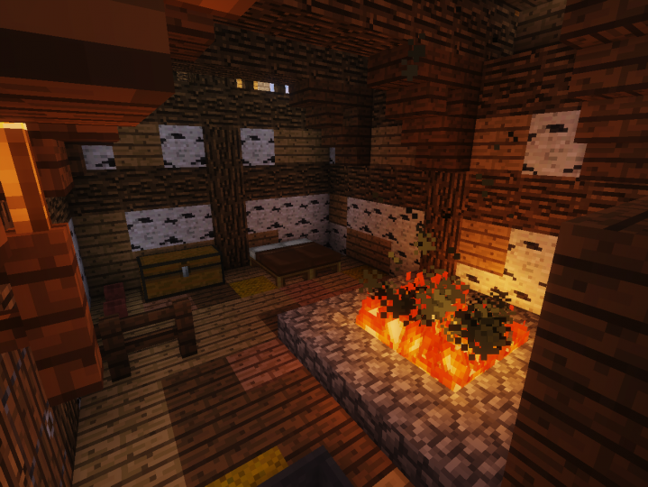 The interior of the authentic w&d cottage. Hope you don't mind the smoke.