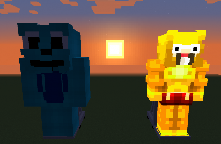 The Blue God of War and the Doofly God.