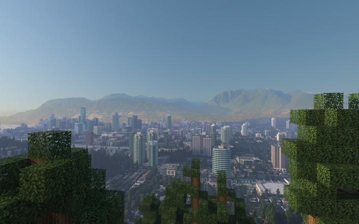 The city seen from Mount Interlaken at dusk
