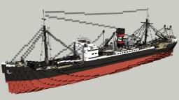 German Cargo Ship Goldenfels 1:1 Minecraft Map & Project