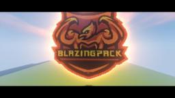 BlazingPack Logo Pixel Art Minecraft Map & Project