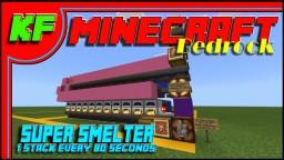 Bedrock Super Smelter Tutorial // Minecraft Bedrock Tutorial and Build Tips Minecraft Map & Project