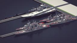 USSR Carrier Battle Group (mod modern ship)+ download Minecraft Map & Project