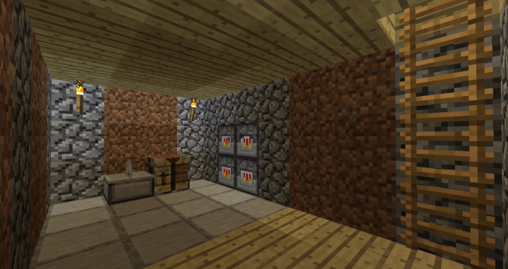 Stonecutter, Smithing table, and Blast furnaces.