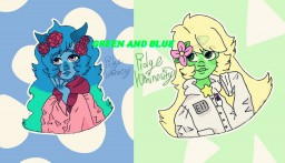 """Green and Blue [POP REEL] (Part 2 of """"Why is being different so bad?"""" , and collaboration with Peridot XJ9!) Minecraft Blog"""