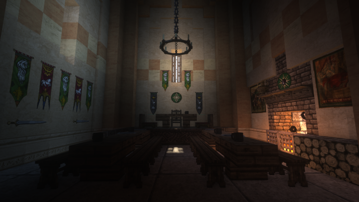 The feasting hall for the nobles and knights.