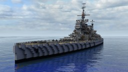 1:1 Scale King George V-class British Battleship Minecraft Map & Project