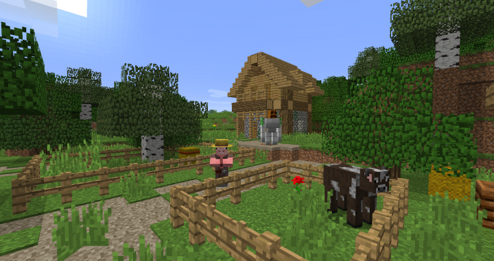 Villager and Iron golem.