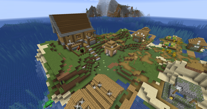 Survival Island Base (Ghost Village) Minecraft Project