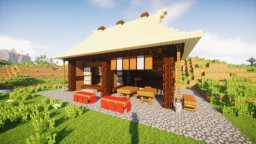 Japanese style tea house with thatched roof Minecraft Map & Project
