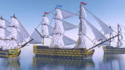 H.M.S. VICTORY First Rate Ship Of The Line Minecraft Map & Project