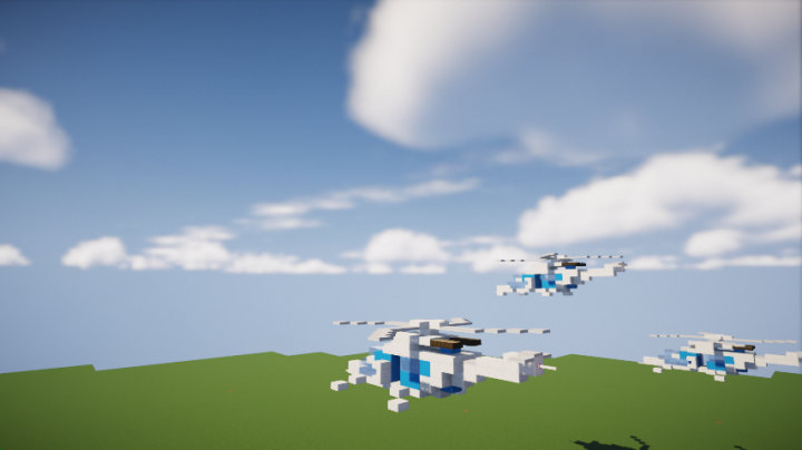 Futuristic Helicopter [CF] Minecraft Project