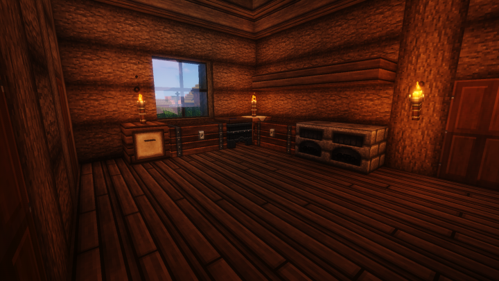 Kitchen Area, not shown in any part of the series but taken from a blueprint.