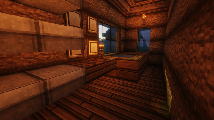 Bathroom, not shown in any part of the series but taken from a blueprint.