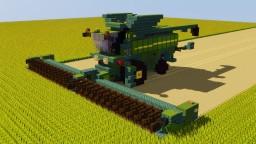 John Deere Combine Harvester Minecraft Map & Project