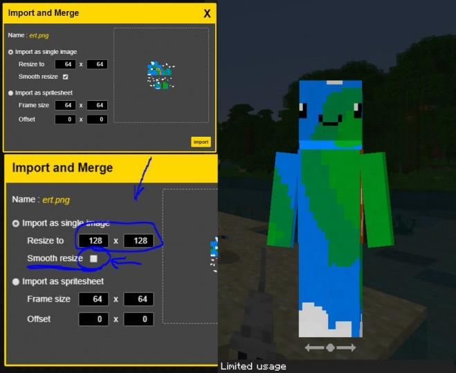 64x64 Skin To 128x128 Bedrock Only Minecraft Blog
