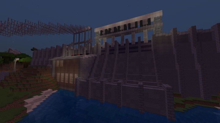 Hydro-Electric Power Plant Minecraft Project