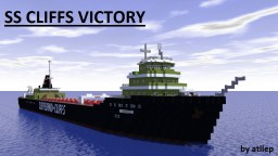 SS Cliffs Victory - Great Lakes Freighter Minecraft Map & Project