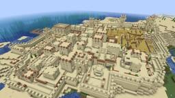 Desert Village Base - Un-raidable Village Against Pillagers/Mobs Minecraft Map & Project