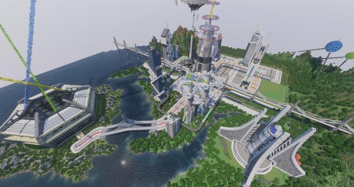 A Futuristic City Spawn Minecraft Map