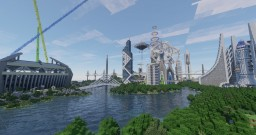 Neopolis Project - a Futuristic City Spawn Minecraft Map & Project