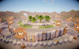 Simple Courtyard Style Spawn/Hub - Perfect for Factions or Survival PvP Servers Minecraft Map & Project