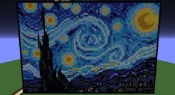 Starry Night Pixel Art! Minecraft Map & Project