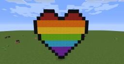Rainbow heart Minecraft Map & Project