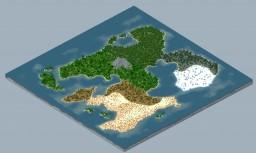 Fast map #01 - 2000 x 2000 [worldpainter] Minecraft Map & Project
