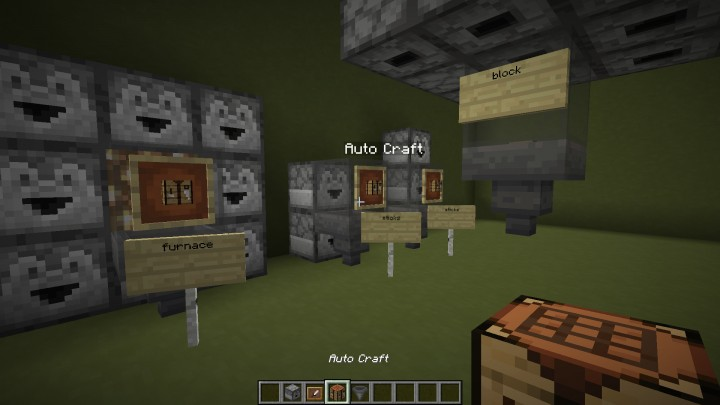 Auto Crafting with Custom Crafting-Recipes Minecraft Data Pack