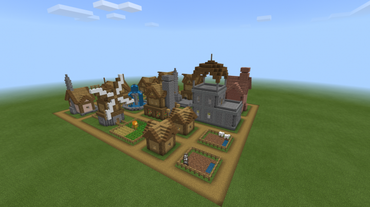 Plains Village For The Minecolonies Challenge Minecraft Map