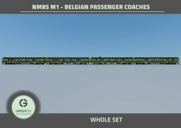 NMBS M1 - Belgian passenger coaches Minecraft Map & Project