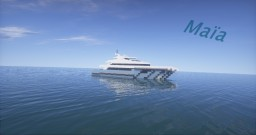 Maïa | Super Yacht (ShipSide) Minecraft Map & Project