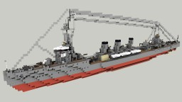 Japanese Light Cruiser Tenryū 1:1 (Feat Commenter) Minecraft Map & Project
