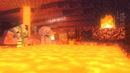 Lava baths are awesome   poster for a friend Minecraft Map & Project