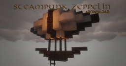Small steampunk Zeppelin +DOWNLOAD Minecraft Map & Project