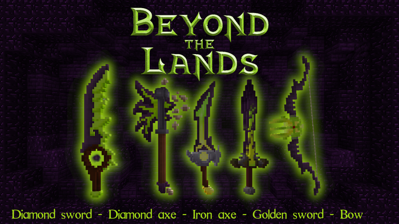 Beyond the Lands - Fiery weapons Minecraft Texture Pack