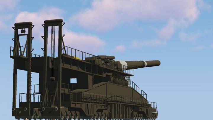 [1.7.10] MCHeli 80cm Heavy Gustav German WW2 Railwaygun