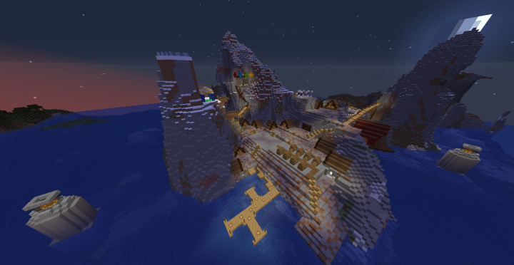The Isle of Berk from above the docks