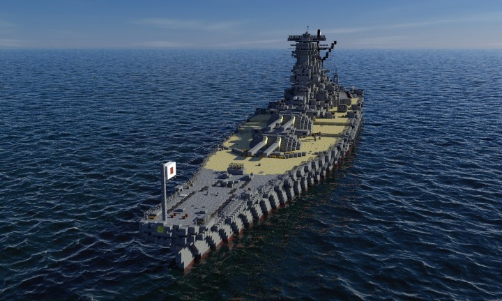 A150 Battleship Super Yamato (1:1 scale) Minecraft Project