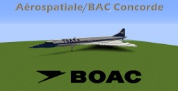 British Overseas Airways Corporation Concorde [FICTIONAL] Minecraft Map & Project