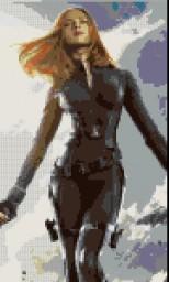 Black Widow Pixel Art Minecraft Project