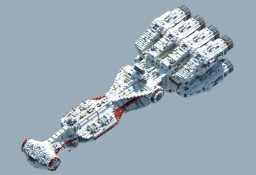 Tantive IV | CR90 Corvette | Blockade Runner. 1:1 Scale Replica Minecraft Map & Project