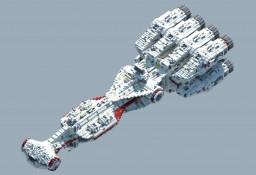 Tantive IV   CR90 Corvette   Blockade Runner. 1:1 Scale Replica Minecraft Map & Project
